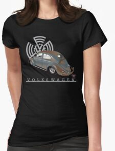 Split Window Bug Womens Fitted T-Shirt