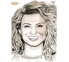 Tori Kelly Gold Feather Drawing / Art Photographic Print