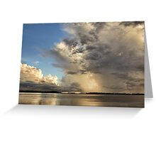 Thunder Over The Gulf  Greeting Card