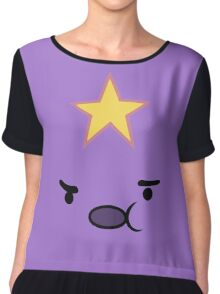 Adventure Time Lumpy Space Princess Face Chiffon Top