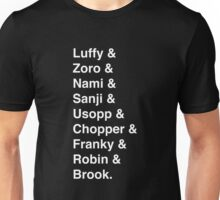 One Piece Tripulation line-up Unisex T-Shirt