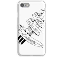 Hate leads to suffering iPhone Case/Skin