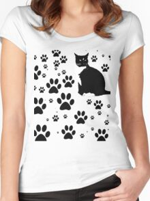 i love the purrryng CATS Women's Fitted Scoop T-Shirt