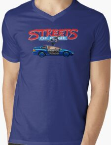STREETS OF RAGE POLICE SUPPORT  Mens V-Neck T-Shirt