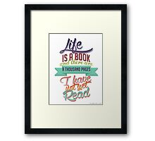 Infernal devices quote Framed Print