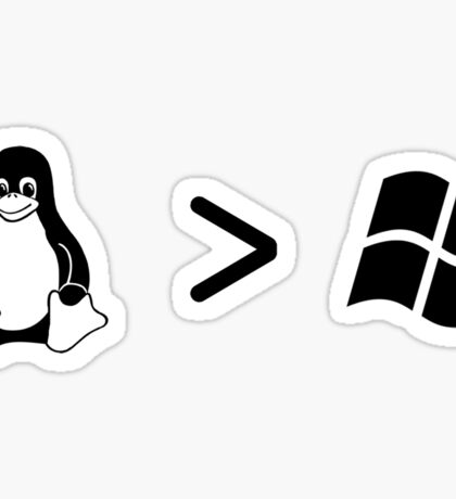 Linux/windows Sticker