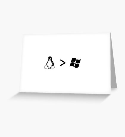 Linux/windows Greeting Card