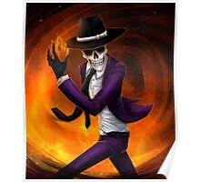 skeleton detective (bg) Poster