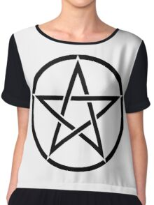 Pentacle, Witch, Wizard, WICCA, Modern, Pagan, Witchcraft, Religion, Cult Chiffon Top