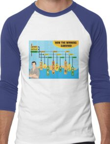 Survivor Winners Infographic Men's Baseball ¾ T-Shirt