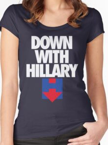 DOWN WITH HILLARY Women's Fitted Scoop T-Shirt
