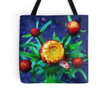 Orange Flower and drops Tote Bag