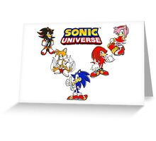 Sonic Universe Greeting Card