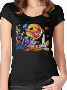 NEW WORLDS Women's Fitted Scoop T-Shirt