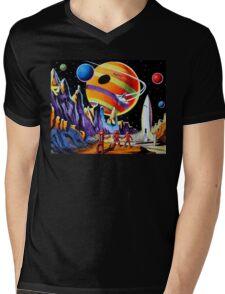 NEW WORLDS Mens V-Neck T-Shirt