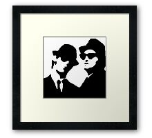 blues brothers Framed Print