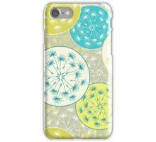 Pattern with dandelion flowers iPhone Case/Skin