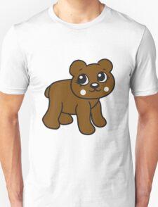 go girl female woman stroll sweet cute comic cartoon teddy bear Unisex T-Shirt