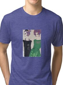 Pop Art Mid-Century Inspired Retro Portrait - Women #1 Tri-blend T-Shirt