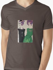 Pop Art Mid-Century Inspired Retro Portrait - Women #1 Mens V-Neck T-Shirt