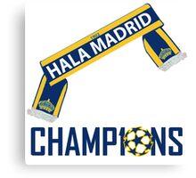 HALA MADRID WINNERS CHAMPIONS LEAGUE Canvas Print