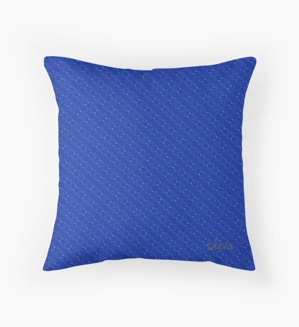 Graphic Shapes Design blue grey white 517B Throw Pillow