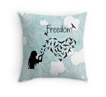 Freedom hearts Throw Pillow