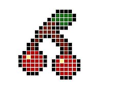 8 bit pixel cherries Photographic Print