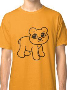 go girl female woman stroll sweet cute comic cartoon teddy bear Classic T-Shirt