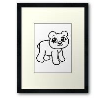 go girl female woman stroll sweet cute comic cartoon teddy bear Framed Print