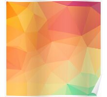 Colorful Modern Pastel Colors Octagonal Geometric Pattern Poster