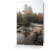 Foggy Fall Waterscape - the Rushing River Greeting Card