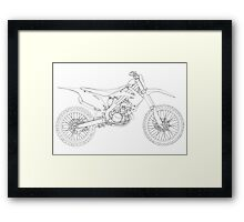 Motocross bike Framed Print