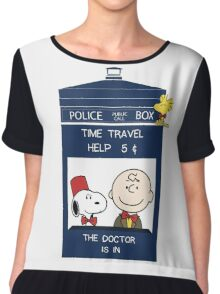 Dr Who - Charlie Brown Chiffon Top
