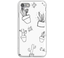Hand draw cactus  iPhone Case/Skin