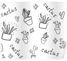 Hand draw cactus  Poster