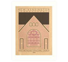 First Methodist Episcopal Church - 1898 (Purple) Art Print