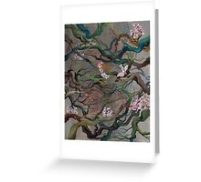 Twisted Cherry Blossom Branches Greeting Card