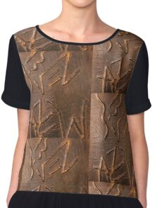 Prince and princess in vintage armour Chiffon Top
