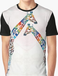 Colorful Giraffe Art - I've Got Your Back - By Sharon Cummings Graphic T-Shirt