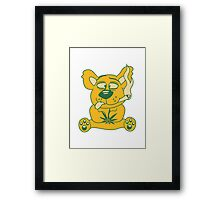 weed hemp cannabis pott joint pothead smoke pot smoking drug teddy bear Framed Print
