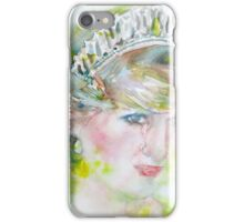 DIANA - PRINCESS of WALES - watercolor portrait.3 iPhone Case/Skin