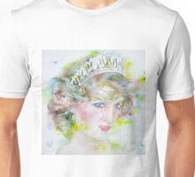 DIANA - PRINCESS of WALES - watercolor portrait.3 Unisex T-Shirt