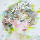 DIANA - PRINCESS of WALES - watercolor portrait.3 by lautir