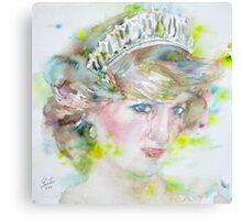 DIANA - PRINCESS of WALES - watercolor portrait.3 Canvas Print