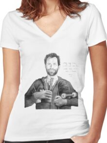 """Mark Gonzales - The Gonz - """"My Age has Nuthin to do with How Much Fun I have"""" Women's Fitted V-Neck T-Shirt"""