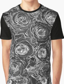 Abstract Rose - Black & White Graphic T-Shirt