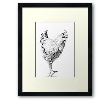 Chicken Illustration Framed Print