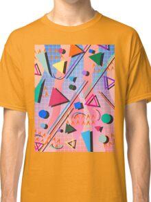80s pop retro pattern 2 Classic T-Shirt