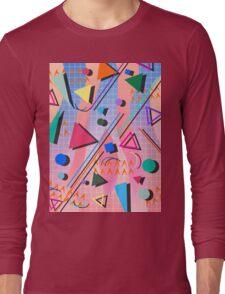 80s pop retro pattern 2 Long Sleeve T-Shirt
